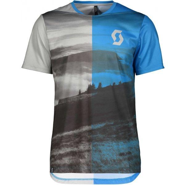 Scott TRAIL FLOW S/SL modrá M - Pánské triko