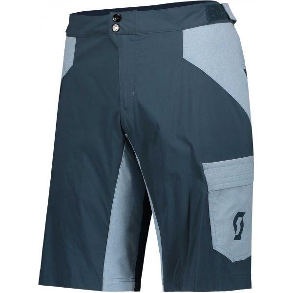 Scott TRAIL FLOW W/PAD JR modrá XL - Dětské šortky