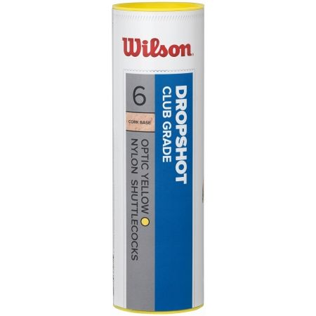 Wilson DROPSHOT 6 TUBE YE - Badminton shuttlecocks