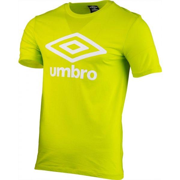 Umbro FW LARGE COTTON LOGO TEE zelená S - Pánské triko