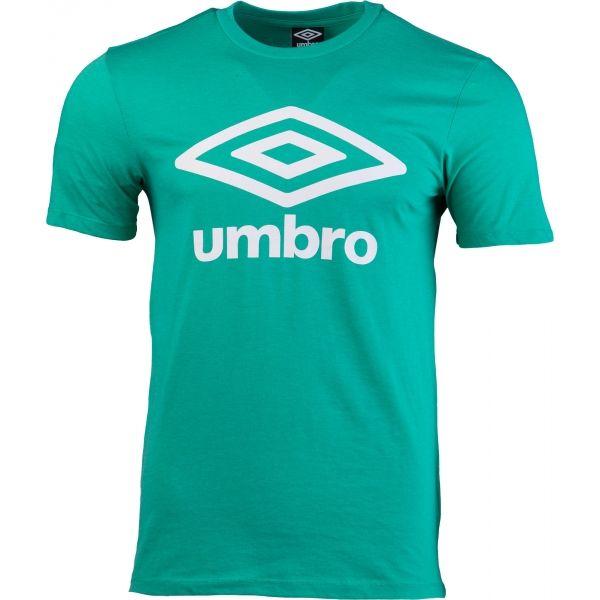 Umbro FW LARGE COTTON LOGO TEE tmavě zelená XL - Pánské triko