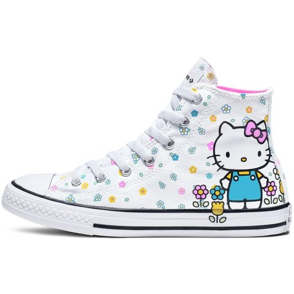 Converse CHUCK TAYLOR ALL STAR HI HELLO KITTY bílá 32 - Dívčí kotníkové tenisky