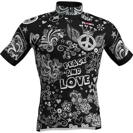 Rosti PEACE AND LOVE - Tricou ciclism bărbați