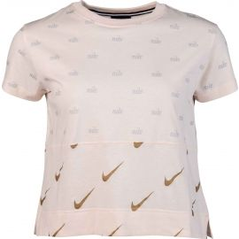 Nike NSW TOP SS METALLIC - Tricou damă