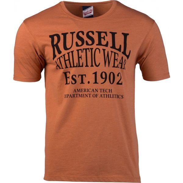 Russell Athletic AMERICAN TECH S/S CREWNECK TEE SHIRT oranžová M - Pánské tričko