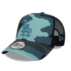 New Era CAMO ESSENTIAL TRUCKER LOS ANGELES DODGERS - Pánska klubová truckerka