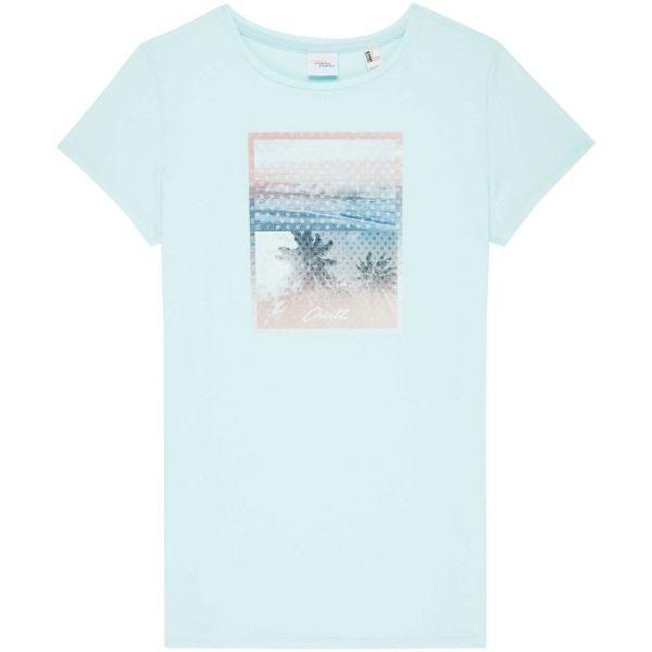 O'Neill LW PALM PHOTO PRINT T-SHIRT světle zelená XS - Dámské tričko