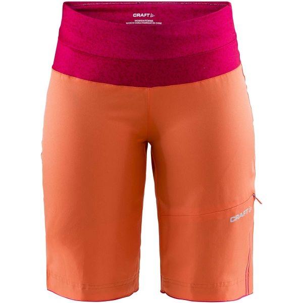 Craft VELO XT W oranžová XXL - Dámské volné cyklistické šortky