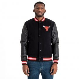New Era NBA CHICAGO BULLS TEAM VARSITY JACKET - Pánska bunda