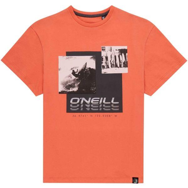 O'Neill LB PHOTOPRINT S/SLV T-SHIRT oranžová 164 - Chlapecké tričko