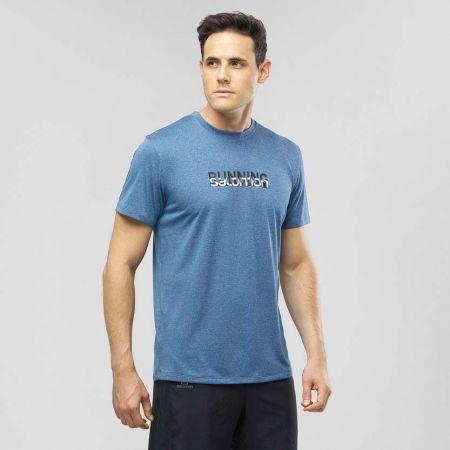 Pánské běžecké tričko - Salomon AGILE GRAPHIC TEE M - 2