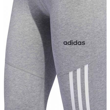 Women's sports tights - adidas D2M COTTON HI-RISE 3STRIPE 3/4 TIGHT - 6