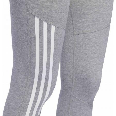 Women's sports tights - adidas D2M COTTON HI-RISE 3STRIPE 3/4 TIGHT - 7