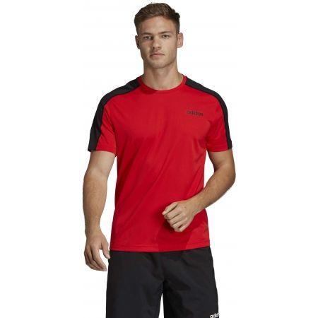 Pánske tričko - adidas DESIGN2MOVE TEE PLAIN - 4