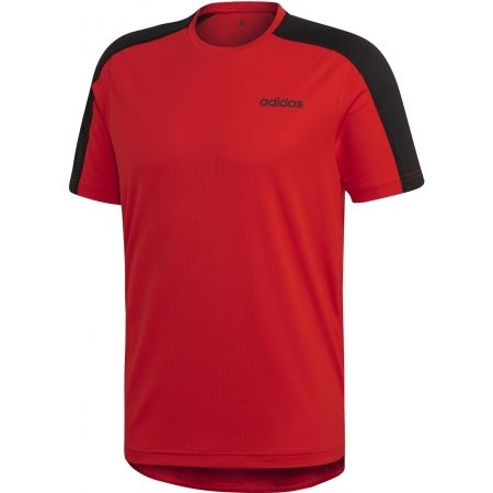 Pánske tričko - adidas DESIGN2MOVE TEE PLAIN - 1