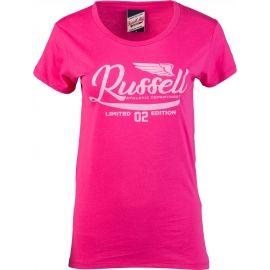 Russell Athletic GLITTER PRINTED WINGS S/S CREWNECK TEE SHIRT - Koszulka damska