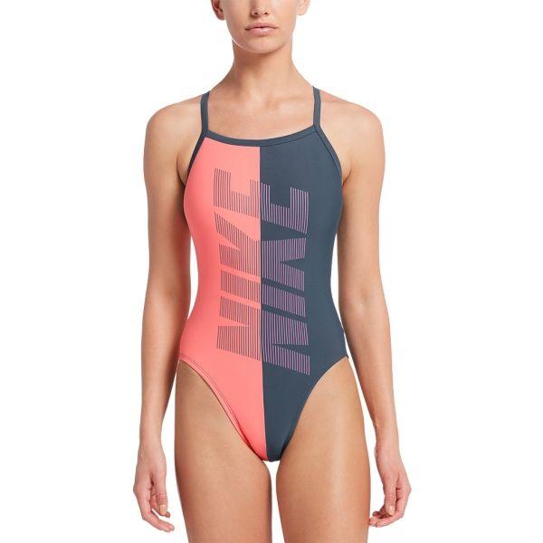 Nike RIFT RACERBACK szürke 38 - Női egyrészes úszódressz