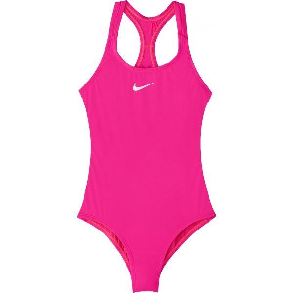 Nike SOLID rózsaszín XL - Egyrészes lány fürdőruha