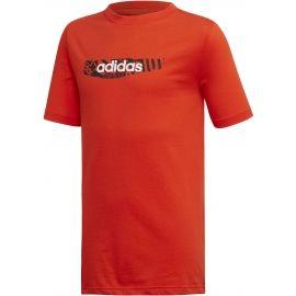 adidas YB E GRAPH TEE - Tricou de băieți