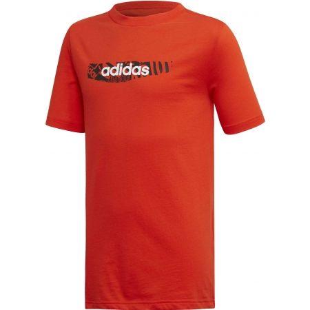 adidas YB E GRAPH TEE - Chlapecké tričko