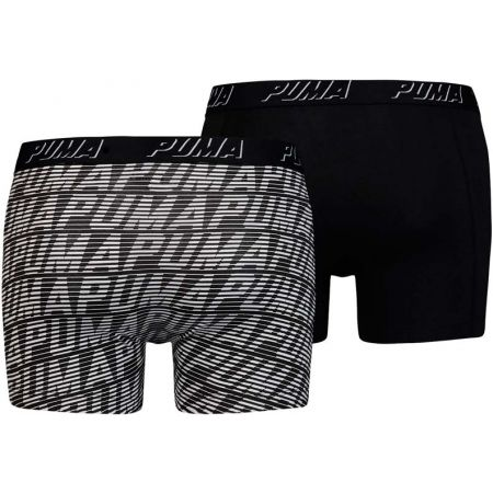 Men's boxers - Puma OPTICAL LOGO AOP BOXER 2P - 2