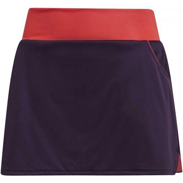 adidas CLUB SKIRT oranžová XS - Dámská tenisová sukně