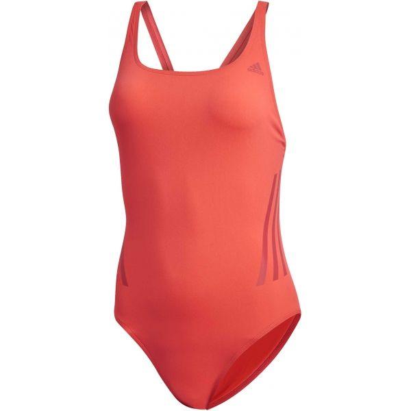 adidas PRO SUIT 3S piros 38 - Női sportos fürdőruha
