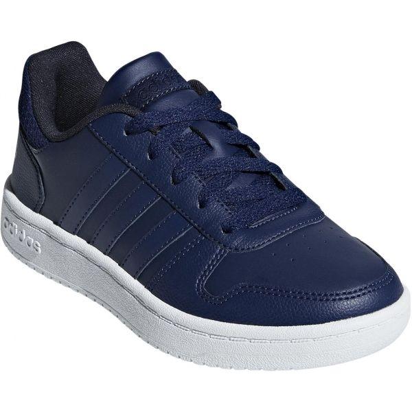 adidas HOOPS 2.0K tmavě modrá 6.5 - Chlapecká volnočasová obuv
