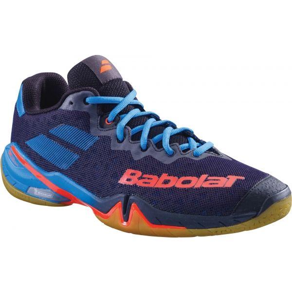 Babolat SHADOW TOUR MEN modrá 9.5 - Pánská badmintonová obuv