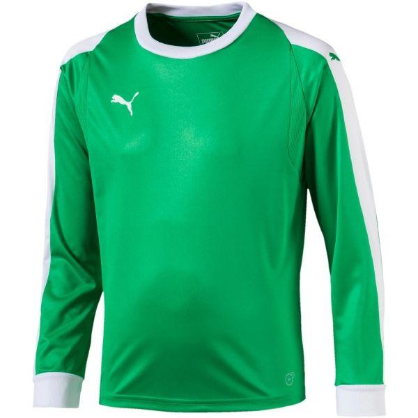 Puma LIGA GK JERSEY JR zelená 152 - Dětský brankářský dres