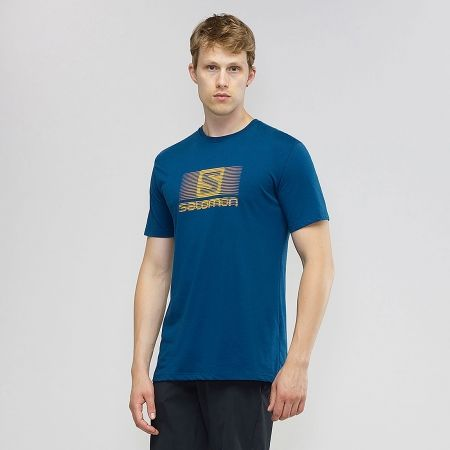 Pánske tričko - Salomon BLEND LOGO SS TEE M - 4