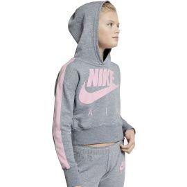 Nike NSW CROP PE AIR - Hanorac cu glugă fete