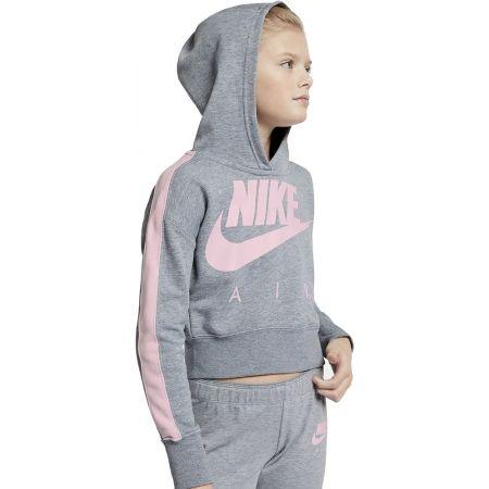 Nike NSW CROP PE AIR - Dívčí mikina s kapucí
