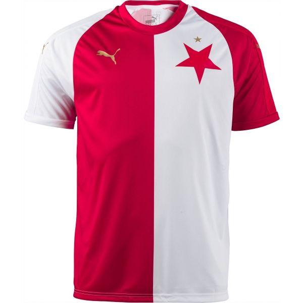 Puma SK SLAVIA HOME REPLICA bílá L - Fotbalový dres