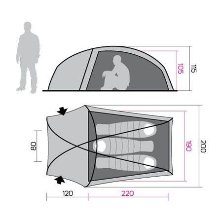 Палатка - Hannah SETT 3 - 2