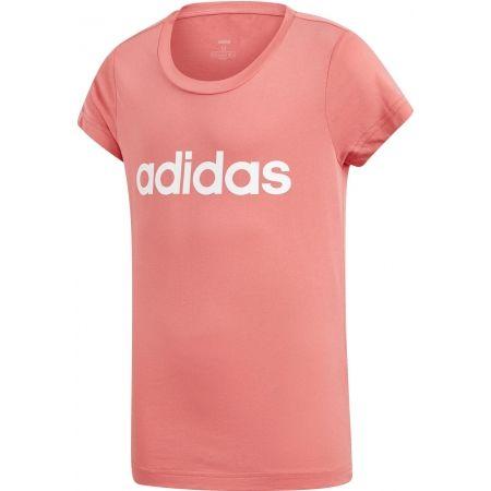 Dievčenské tričko - adidas YG E LIN TEE - 1