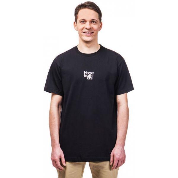 Horsefeathers EMBLEM SS T-SHIRT černá S - Pánské tričko