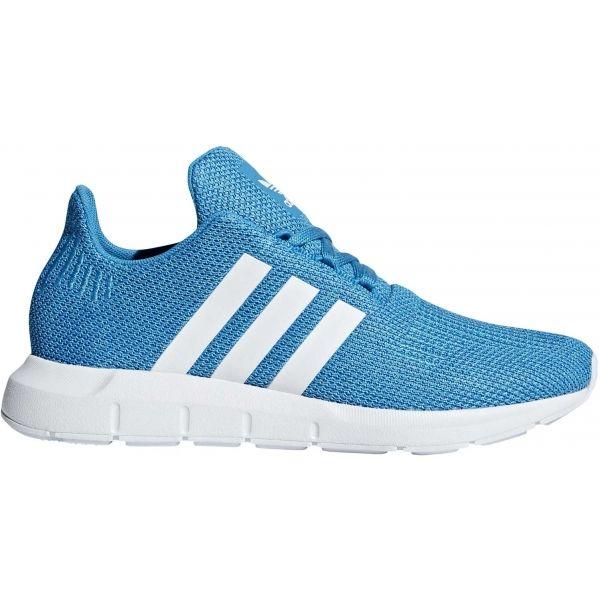 adidas SWIFT RUN J modrá 4 - Detská voľnočasová obuv
