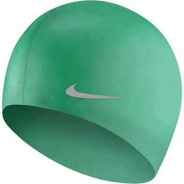 Nike SOLID SILICONE YOUTH jasnozielony NS - Czepek pływacki dziecięcy