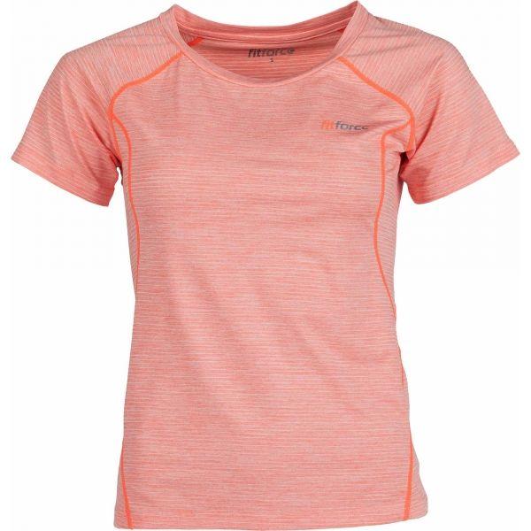 Fitforce NESSA różowy M - Koszulka sportowa damska