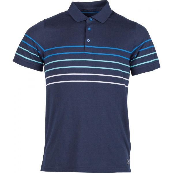 Willard WINCLER modrá XXL - Pánské triko s límečkem