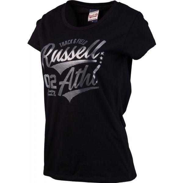 Russell Athletic TRACK AND FIELD fekete XS - Női póló