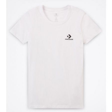 Converse STAR CHEVRON SMALL CHEST LOGO TEE - Tricou damă