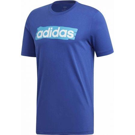 adidas E LIN BRUSH TEE - Pánske tričko