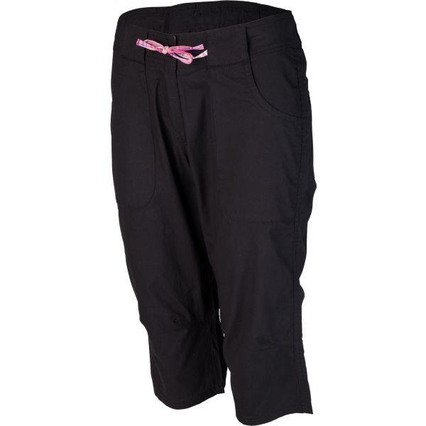 Willard LENTIL černá 44 - Dámské plátěné 3/4 kalhoty