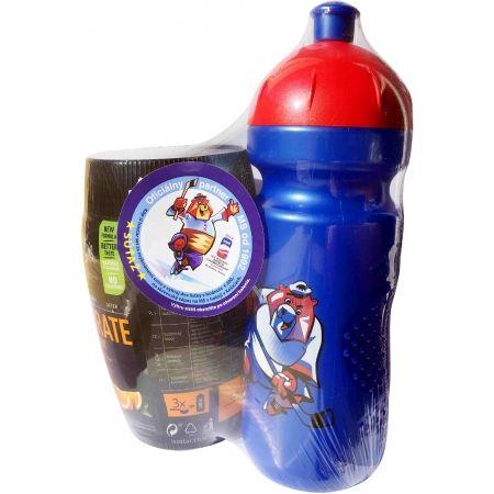 Bidon + nápoj v prášku - Isostar 400G PRÁŠEK ORANGE + 650 ML BIDON IIHF 2019