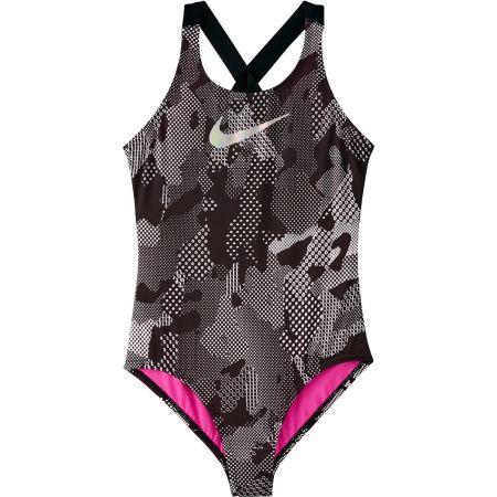 Nike OPTIC CAMO - Dievčenské jednodielne plavky