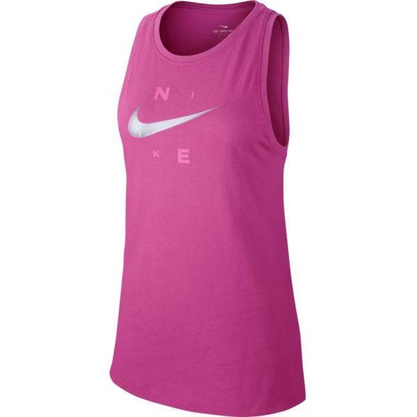 Nike DRY TANK DFC BRAND ružová S - Dámske športové tielko