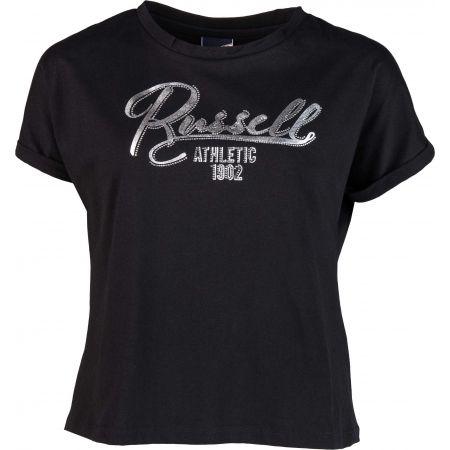 Russell Athletic GLITTER TEE - Tricou de damă