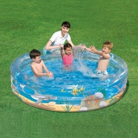 Bestway 79x21 Transparent Sea Life Pool - Inflatable pool - Bestway